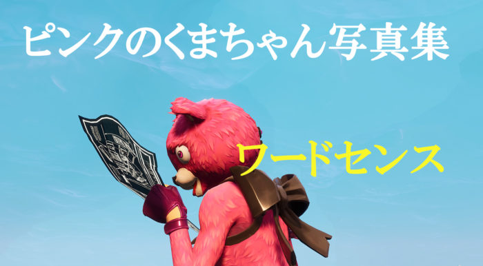 【Fortnite】ピンクのくまちゃん写真集第一弾「ワードセンス」【フォートナイト】