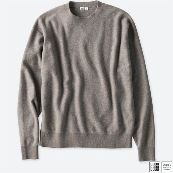 ユニクロユーのソフトラムクルーネックセーターが買い!